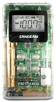 AM/FM Stereo Pocket Radio - Clear
