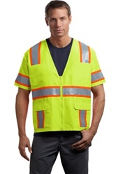 Dual-Color Safety Vest, ANSI/ISEA 107-2004 certified Class 3
