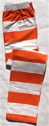 Inmate pants, color stripes