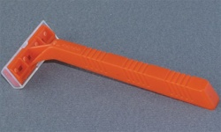 Single blade razor (orange handle)