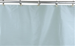 Grommet-Style shower curtain, LightGreenVinyl, Grommets and Rings