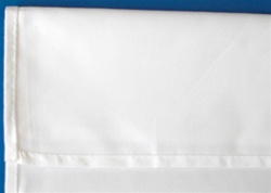 Tablecloth, white, 100% spun-poly