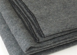 Wool blankets, woven, grey color